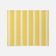 Bright Cheery Yellow Vertical Stripes Throw Blanke