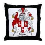 Storer Family Crest Throw Pillow