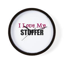 I Love My STUFFER Wall Clock