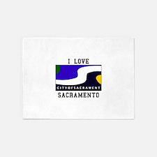 I Love Sacramento 5'x7'Area Rug