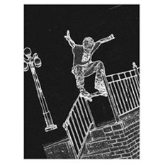 Skate Ollie Canvas Art
