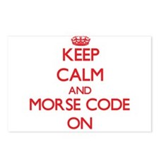 Keep Calm and Morse Code Postcards (Package of 8)
