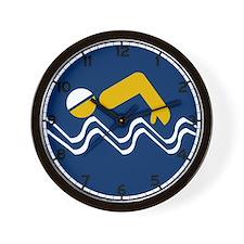 Swimming Beach - South Africa Wall Clock