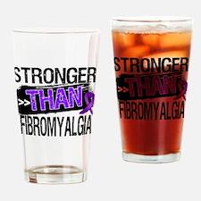 Stronger Than Fibromyalgia Drinking Glass