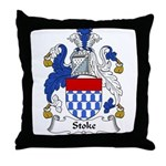 Stoke Family Crest Throw Pillow