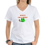 HOPPY HALLOWEEN Women's V-Neck T-Shirt
