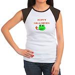 HOPPY HALLOWEEN Women's Cap Sleeve T-Shirt