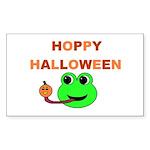 HOPPY HALLOWEEN Rectangle Sticker