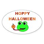 HOPPY HALLOWEEN Oval Sticker