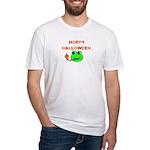 HOPPY HALLOWEEN Fitted T-Shirt
