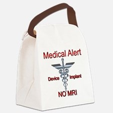 Medical Alert Device Implant NO M Canvas Lunch Bag