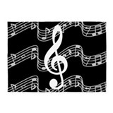 Music note 5x7 Rugs