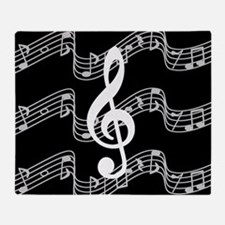 Music Staffs with Treble Clef Throw Blanket