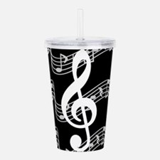 Music Staffs with Treb Acrylic Double-wall Tumbler