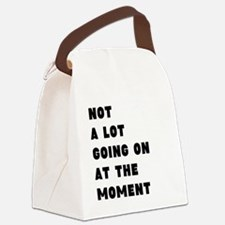 Not a lot going on at the moment Canvas Lunch Bag