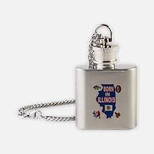 ILLINOIS BORN Flask Necklace
