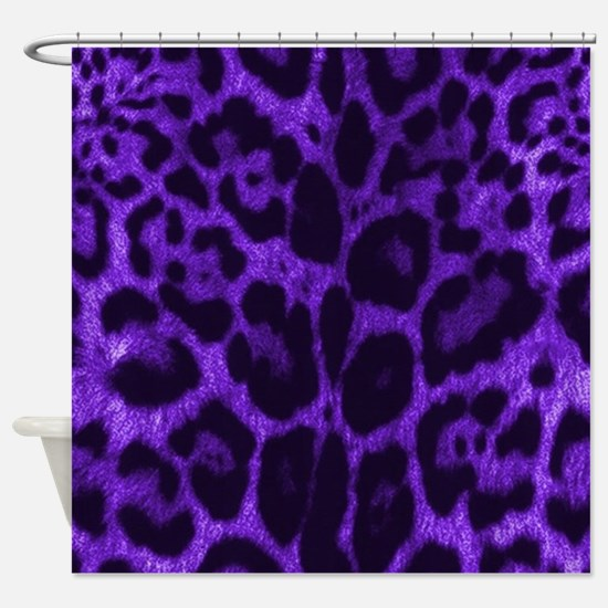 Purple Jaguar Shower Curtain