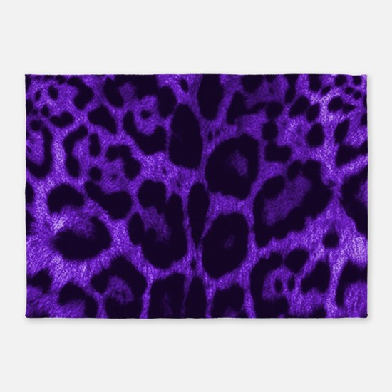 Purple Jaguar 5'x7'Area Rug