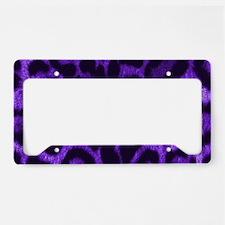 Purple Jaguar License Plate Holder
