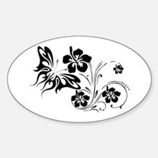 FLOWERS & BF 30 Oval Decal