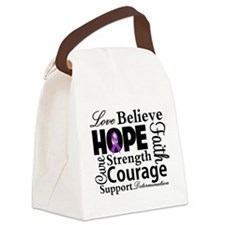 Fibromyalgia Love Believe Canvas Lunch Bag