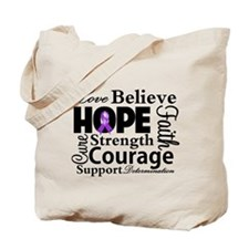 Fibromyalgia Love Believe Tote Bag