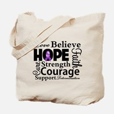 Fibromyalgia Love Believe Tote Bag