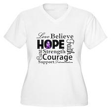 Fibromyalgia Love Believe Plus Size T-Shirt
