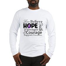 Fibromyalgia Love Believe Long Sleeve T-Shirt