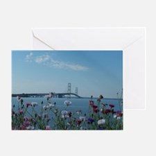 Unique Michigan lakes Greeting Card