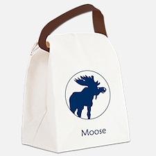 Moose Blue Canvas Lunch Bag