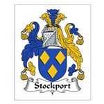 Stockport Family Crest Small Poster