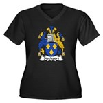Stockport Family Crest Women's Plus Size V-Neck Da