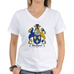 Stockport Family Crest Women's V-Neck T-Shirt
