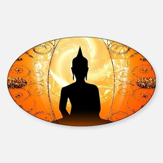 Buddha on mysical background Decal