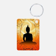 Buddha on mysical background Keychains
