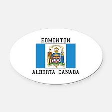Edmonton Alberta Oval Car Magnet
