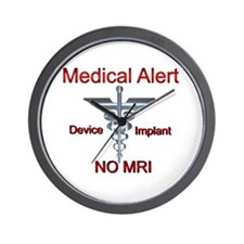 Medical Alert Device Implant NO MRI Asc Wall Clock