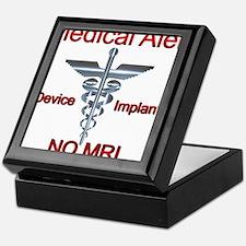 Medical Alert Device Implant NO MRI A Keepsake Box