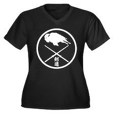 Cute Club Women's Plus Size V-Neck Dark T-Shirt
