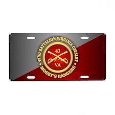 Mosbys Rangers Aluminum License Plate
