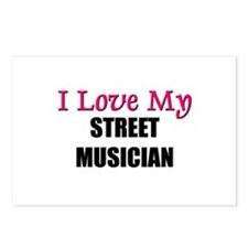 I Love My STREET MUSICIAN Postcards (Package of 8)