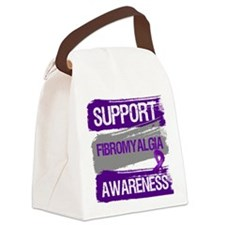 Support Fibromyalgia Awareness Canvas Lunch Bag