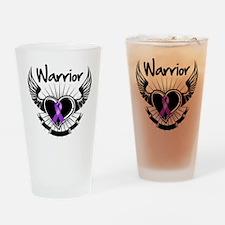 Fibromyalgia Warrior Drinking Glass