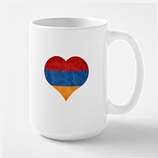 Armenian Flag Heart Mugs
