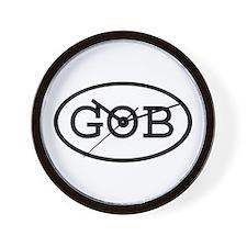 GOB Oval Wall Clock