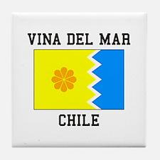 Vina del Mar, Chile Tile Coaster