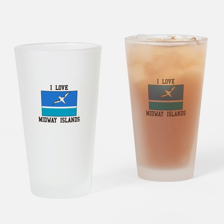 Love Midway Islands Drinking Glass