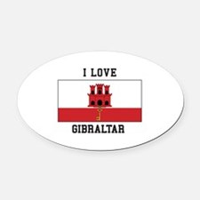 I Love Gibraltar Oval Car Magnet