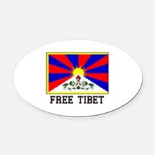Free Tibet Oval Car Magnet